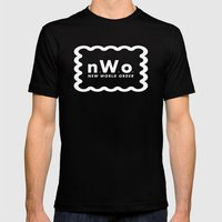 new WORLD order Mens Fitted Tee Black SMALL