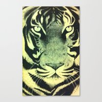 Be A Tiger (Yellow) Canvas Print