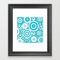 Soft Blue Circles Framed Art Print