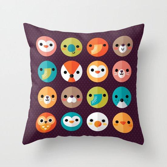 SMILEY FACES 1 Throw Pillow