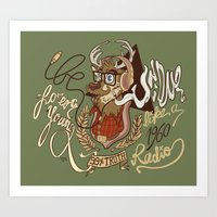 Oh my Deer (be unique and forever young like a 1960 radio) Art Print