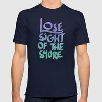 The Shore Mens Fitted Tee Navy SMALL