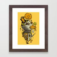 A Disorientated Duck Goes For A Stroll Framed Art Print