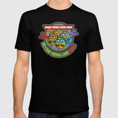 Angry Mutant Ninja Birds Mens Fitted Tee Black SMALL