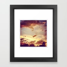 red clouds Framed Art Print
