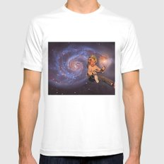 GALAXY SMALL White Mens Fitted Tee