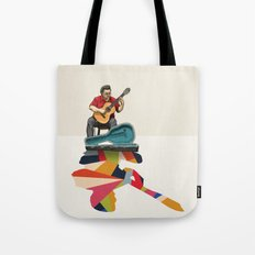 Walking Shadow, Guitarist Tote Bag