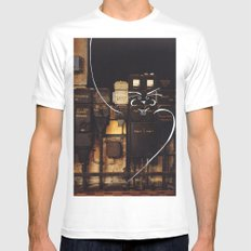 Gentelman White Mens Fitted Tee SMALL