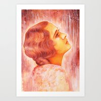 Heading for a fall (Vintage Portrait) Art Print