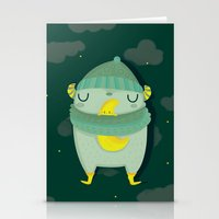 Hug the moon Stationery Cards