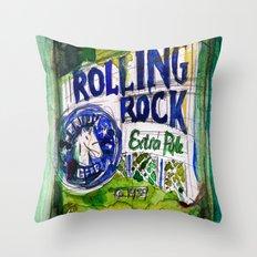 Rolling Rock Beer Throw Pillow