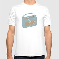 Vintage Radio Mens Fitted Tee White SMALL
