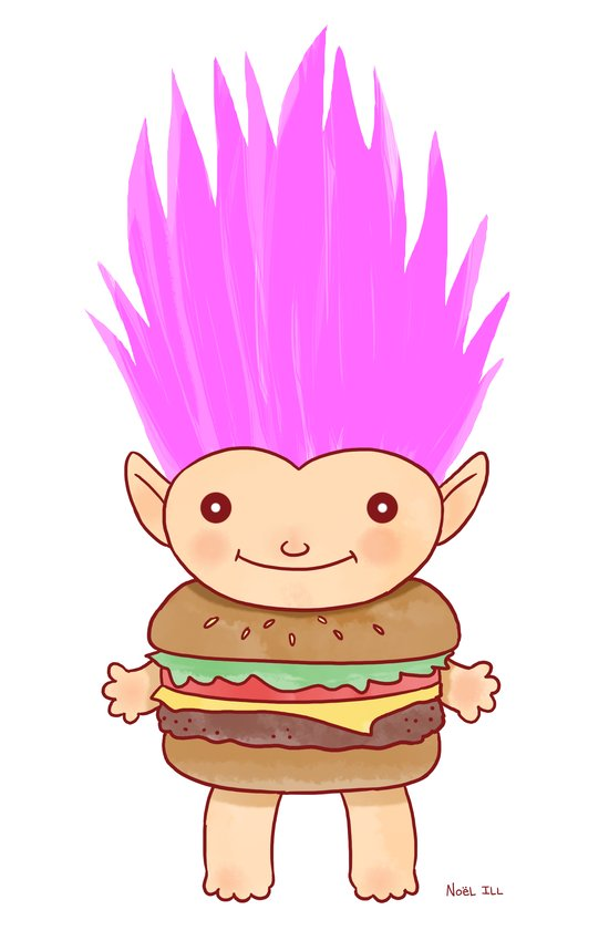 Hamburger Troll Art Print
