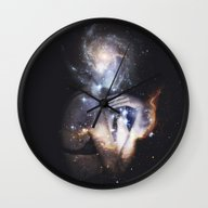 Wall Clock featuring Starlust by Witchoria