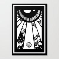 EL MAR LAS NUVES Y UN OJ… Canvas Print