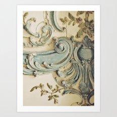 Blue Lace of Versailles Art Print