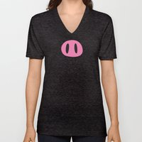 Happy Pig Minimalist Unisex V-Neck