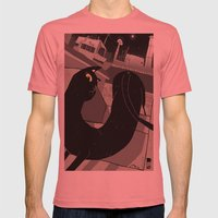 The Gato. Mens Fitted Tee Pomegranate SMALL