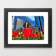 Boston in Bloom Framed Art Print