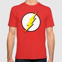 The Flash Mens Fitted Tee Red SMALL