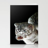 White Tiger Cub Stationery Cards