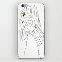 Yellow Eyeshadow iPhone & iPod Skin