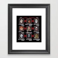 Mega Slashers Framed Art Print