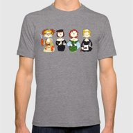 Ladies Of Clue Mens Fitted Tee Tri-Grey SMALL