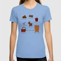 Colors: Brown (Los Color… Womens Fitted Tee Tri-Blue SMALL