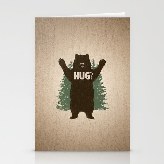 Bear Hug Stationery Card