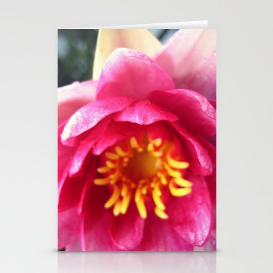 Pink WaterLily II Stationery Card