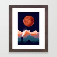 Blood Moon Framed Art Print
