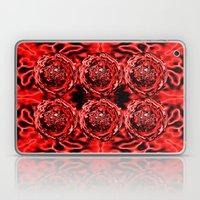 Red Swirl Topography Laptop & iPad Skin