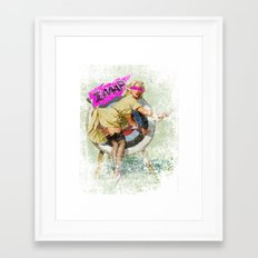 Lucky Butt Framed Art Print