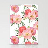 Pretty Pink Garden Flowe… Stationery Cards