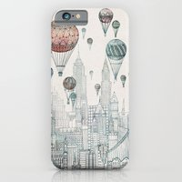 nyc iPhone & iPod Cases featuring Voyages Over New York by David Fleck