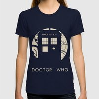Doctor Who Womens Fitted Tee Navy SMALL