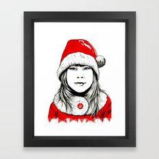 Snow-maiden Framed Art Print