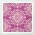 Vintage Mandala-Purply Art Print
