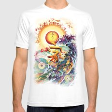 Japan Earthquake 11-03-2011 SMALL Mens Fitted Tee White