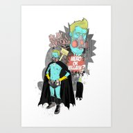 Art Print featuring Superheroes SF by Nick Cocozza