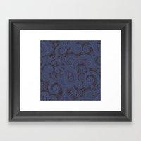 Paisley Platinum Framed Art Print