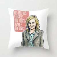 Leslie Knope Throw Pillow