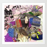 Tomoe Gozen Art Print