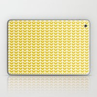 mustard chevron Laptop & iPad Skin
