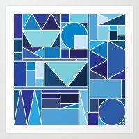 Kaku Blue Art Print