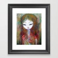 Bloom Eye Framed Art Print