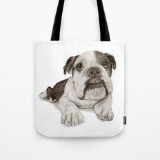 A Bulldog Puppy :: Brindle  Tote Bag