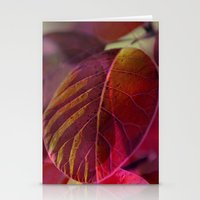 Abstract Leaves Stationery Cards