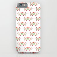 Small floral kitchen collection white iPhone 6 Slim Case